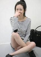 2013 New Women's Arrival Fashionable Korea Stripe Pocket Long Sleeve T-shirt Black&White/Grey GX13070801 M L XL