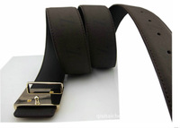 High Quality! 2013 New Fashion Men Clothes Accessories Genuine leather Black Casual Belt Free Shipping PD014