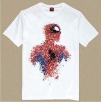 Men's Short Sleeve Tee T Shirts With Spiderman Print/ T Shirt Man Spider Man