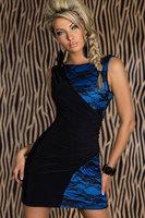 S~XXL Blue pink 2 colors 2014 New women lace sleeveless mini dress Sexy sheath dresses clubbing wear  Free drop shipping