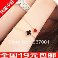 10pcs European and American jewelry retro Xiaotao heart girls must love Clover Bracelet
