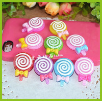 50pcs 30mm Cute Candy glitter bow mix cabochons flatback resins for girl hairbow diy phone decoration