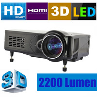 Black Beamer 3D 2200 Lumen LED HD Projector 1080P HDMI Home Theatre PS3 XBOX free HDMI cable UK Stock Yodel Dropship