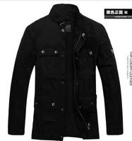 Men's jacket Korean cultivating type washing fashion leisure men's collar