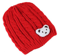 2013 New Korean Kawaii Bear Twist Wool Children Cap Free Shipping