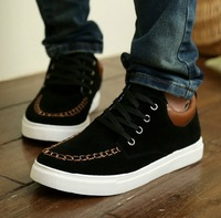 B Fashion Sneakers For Men Causal Sport Shoes Leather Blue Brown Black Size 39-44 Free Shipping