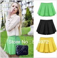 Best selling!women shorts plus size high waist pleated pantskirts for lady skirt short pants Free Shipping