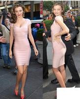 2013 Top Quality Brand Clothing Women Bandage Dress with Short Sleeves Zipper Formal for Lady Celebrity Beige Black Blue HL 1456