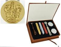 New Vintage Harry Potter Gryffindor School Badge Wax Seal Stamp Sticks Spoon Set