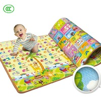 Promotion Ultralarge Portable summer child crawling mat thickening double face infant climb soft education pad mat free shipping