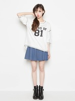 Point 2013mixxmix baseball half sleeve casual t-shirt female