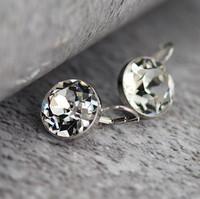 Austria crystal sparkling white crystal earrings stud earring