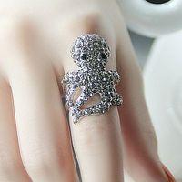 Austria crystal octopus ring finger ring