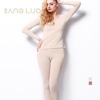 Thickening big o-neck long-sleeve basic set underwear thin thermal underwear set h023