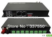 DMX512 Standard digital signal input dmx decoder&driver,3A*24 Channels output, DC12-24V input,12V/864W, 24V/1728W