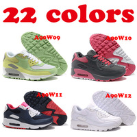 Cheap Air Womens Sneakers 90 Wholesale Women Shoes Free Shipping 2013 22colors Size Euro36-39