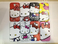 Free Shipping 10 pcs / lot  Brand New Cute Cover Hello Kitty Hard Case  for Samsung i9500 galaxy SIV  s4 case