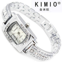 Luxury KIMIO Brand Watch women ladies Stainless Steel Japan Movement Crystal Watch k138