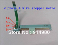 New DC 4-6V  2 phase 4 wire stepper motor with screw drive nut with a slider slider moves back and forth stepping motor