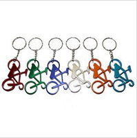 Factory Wholesale Supply: Gift bicycle-style key pendant / bottle opener / corkscrew key small pendant  20pcs/lot