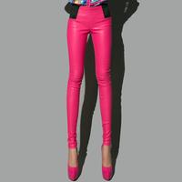 Fashion fashion 2013 PU tight-fitting leather pants trousers skinny pants pencil pants