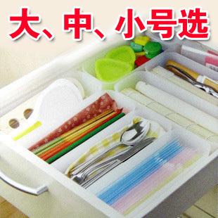 Estilo japonês caixa de gaveta de talheres de casa acabamento caixa de plástico de armazenamento único(China (Mainland))