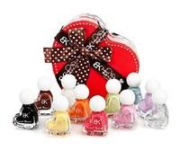 Free Shipping 1pcs Bk Nail Polish Oil 11 Heart Gift Box Set Nail Polish Oil Set Gift 2015