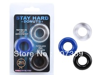 Stay Hard Donuts Beaded Cockrings,Flexible Glue Penis Rings,Delay Cock Rings,Novelty Sex Toys 3 Pieces/Pack 50packs/lot