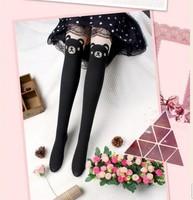 Lazy Bear Design Fashion High Sex Pantyhose Stockings Black Tattoo bear or Cat Tights
