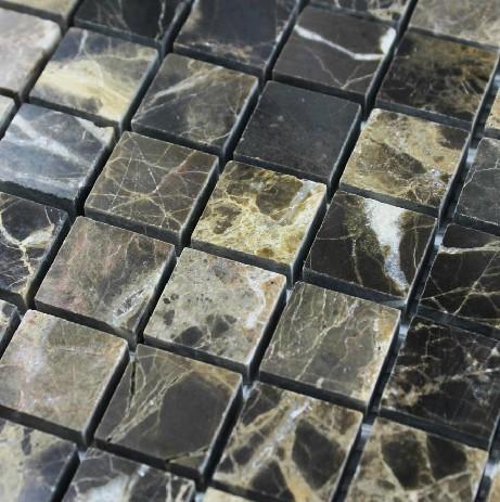 Online kopen wholesale bruine emperador marmer uit china bruine emperador marmer groothandel - Donker mozaieken badkamer ...
