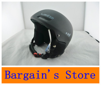Free Shipping Snow Sports Helmet Professional Ski Helmet Size 59-60cm Black Color Made of  ABS And EPS Material