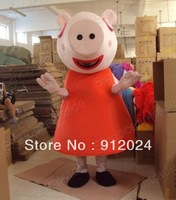 New adult Peppa Pig Mascot Costume Halloween gift costume characters sex dress hot sale