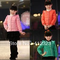 Prom T88 kids girls flounced down coat jacket outwear baby children girls fashion down outerwear Parkas jackets