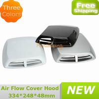 Universal Black/Silvery/White Car Decoration Engine Vent Intake hood  Scoop Bonnet Decorative Air Flow Cover Hood