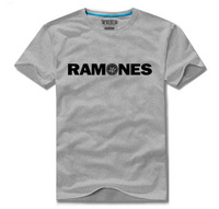 Cotton short-sleeve 100% T-shirt plus size available worsted male Women lovers personality 11 ramones
