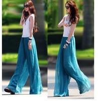 Fashion wide leg pants chiffon ubiquitous1 skorts culottes casual pants bohemia