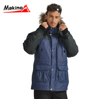 Wholesale Makino ma outdoor jacket male twinset thermal ski suit down coat a5117