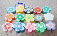 "PC004 Colorful Flower Beads mixed 300pcs 1/2"" Clay Beads for Craft DIY Jewelry Accessory"