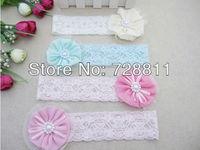 2+1 baby girl lace chiffon hairband girl hair accessories children flower pearl headband kid's headwear 1pcs free shipping