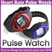 2 pcs/Lot_Fashion Pulse Heart Rate Counter Calories Monitor  Waterproof Sport Watch _Free Shipping