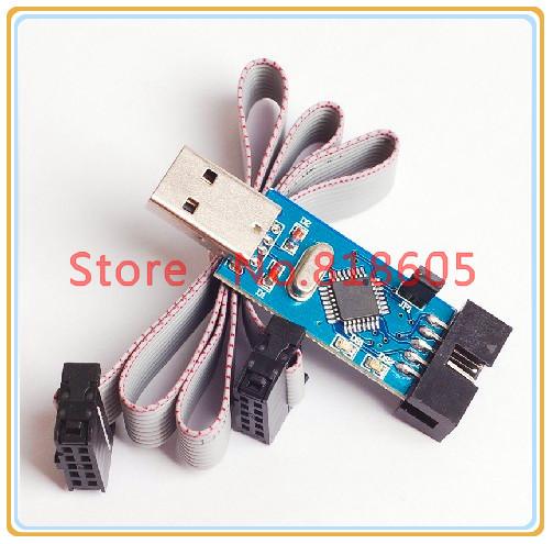 USBASP USBISP Downloader Microcontroller Programmer 51/AVR Download Cable Free Cable(China (Mainland))