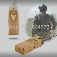 Military Army Molle PRC 148 MBITR Radio Pouch Walkie Talkie Pocket TAN/Khaki