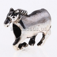 Free shipping!!!Zinc Alloy European Beads,Sexy Jewelry, Horse, without troll, nickel, lead & cadmium free, 19x16x6mm