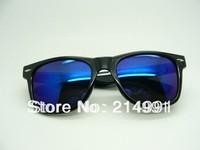 2013 Model Fashion Sunglasses, W16# Black Frame Blue Lens
