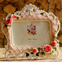 Fashion resin 6 rustic colored drawing photo frame rose photo frame indoor photo frame