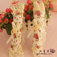 Rustic fabric gloves double door refrigerator door handle sets door handle sets princess 2