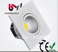 Free Shipping 3W COB White Square LED Downlight Ceiling Cabinet LED Lamp, High Power LED COB Square Down Lamp Ceiling Lamp