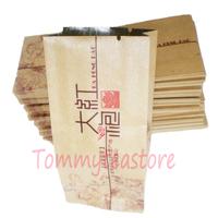 500pcs lot free shipping Kraft paper packing bag for the tea shop vacuum pack aluminium foil inside
