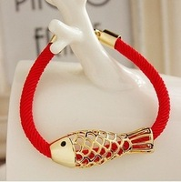 Min-order $6 can mix order Red lucky fish red rope hot sale bracelets gifts free shipping