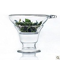 Free Shipping 2013 Kung fu tea set glass tea strainers with handle glass colander  tea filter